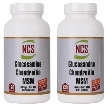 Ncs Glucosamine Chondroitin MSM Hyaluronic Acid Boswellia 240 tablet